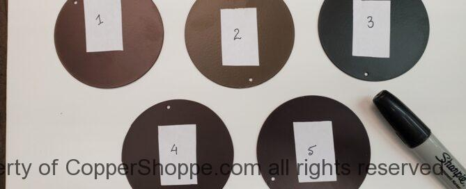 Color Chips Dark Brown for 2021 Color Selection