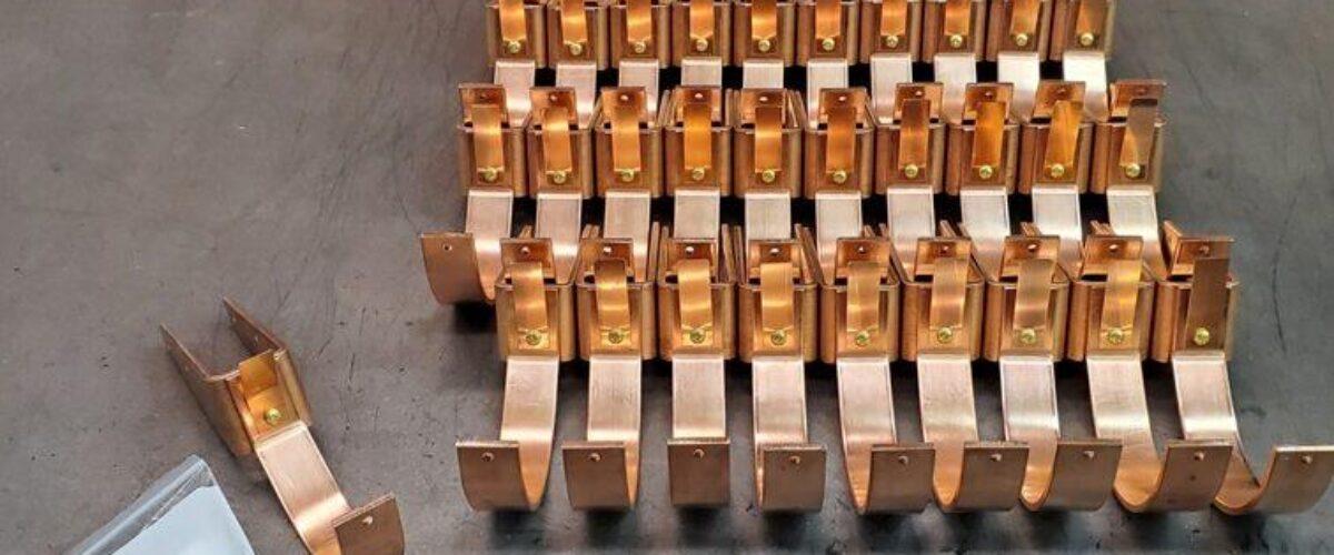 HRU Copper Gutter Brackets Hangers for 6″ Half Round Copper Gutters