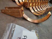 "HRU Copper Gutter Brackets Hangers for 6"" Half Round Copper Gutters"