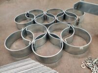 """Knoke Downspout Brackets in Galvanized Steel for 5.5"""" Stand Off"""