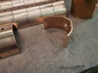 """RDSU Copper Downspout Brackets for 3"""" Round Copper Downspouts"""