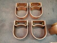 Varni Copper Downspout Brackets Custom Diameter and Stand Offs