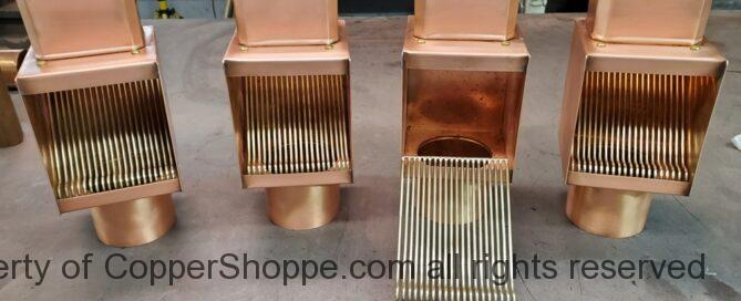 AutoClear I-COPPER Downspout Leaf and Debris Diverters Filters for 4 by 3 Downspouts