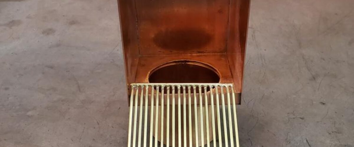 AutoClear Copper Downspout Leaf and Debris Filter Screen Guard Clean Out