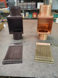 AutoClear I-COPPER and I-PCSS Downspout Leaf and Debris Diverter Filter Screen Guard Clean Out
