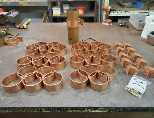 Knoke Copper Downspout Brackets for 4″ European Downspouts (100 mm – 3.937″)