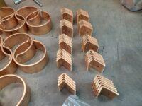 "Knoke Copper Downspout Brackets for 4"" European Downspouts (100 mm - 3.970"")"