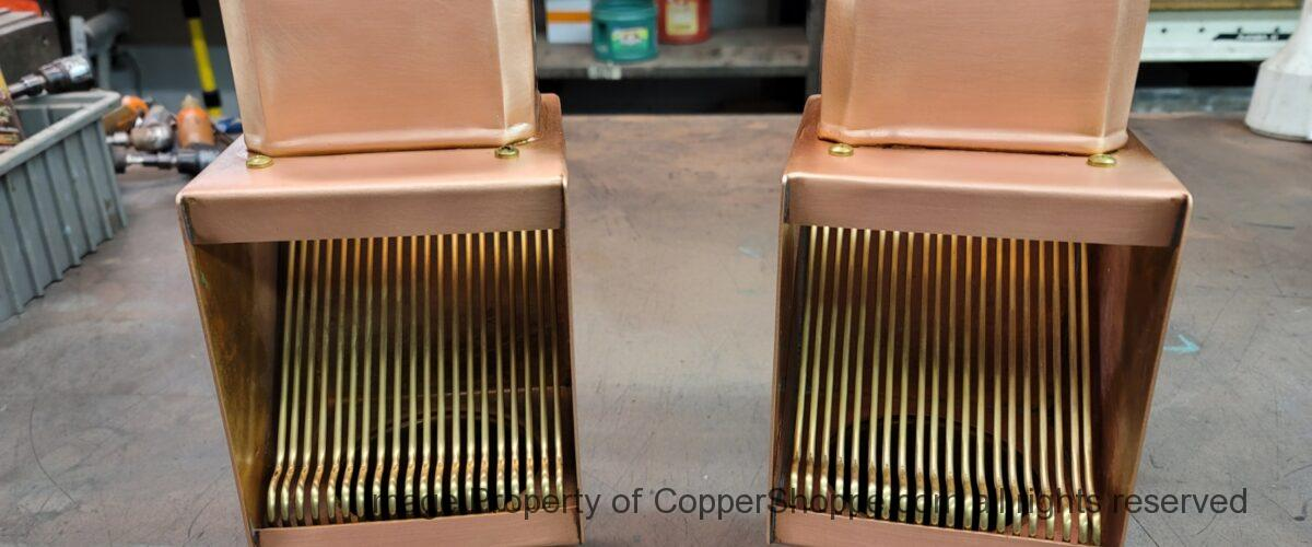 AutoClear I-COPPER Downspout Cleanouts Leaf and Debris Diverters Filters for 4 by 3 Downspouts